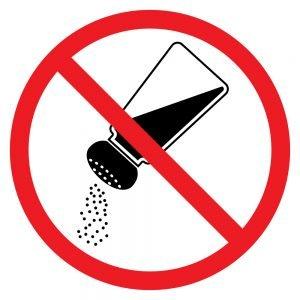 do not consume salt